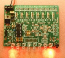 8 Channel PWM LED Chaser for PIC16F628A and PIC16F88