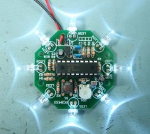 UFO round LED Chaser with speed control for PIC16F628A