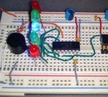 Build a digital spirit level using a SCA610 accelerometer using PIC16F684