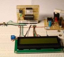 A Digital temperature meter using an LM35 temperature sensor using PIC16F688
