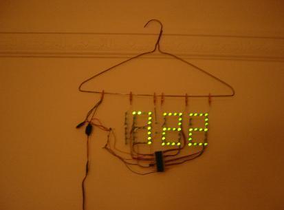 Naked clock