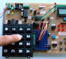How to interface keypad with PIC16F877