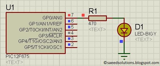 PIC12F675 internal EEPROM schematic