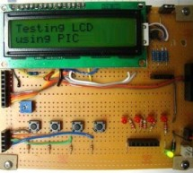 PIC16F84A LCD interfacing code (using 3 pins only) + Proteus simulation