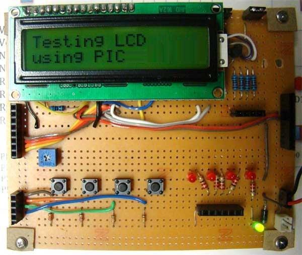 PIC16F84A LCD interfacing
