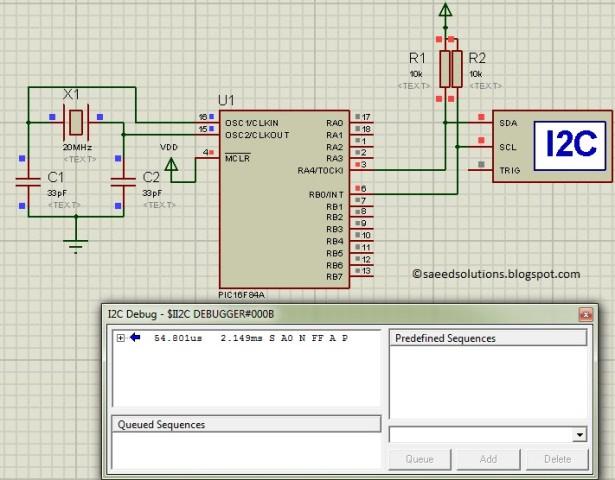 PIC16F84A i2c schematic