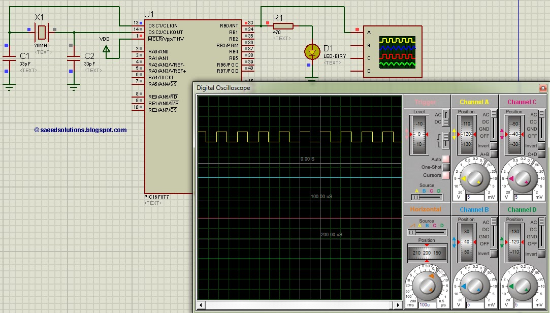PIC16F877 timer0 schematic