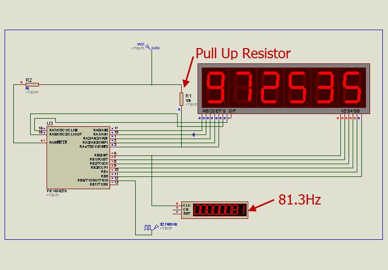6 Digits Led 7 Segment Multiplexing Using Pic16f627a