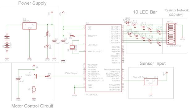 IR Proximity Motor Control schematic