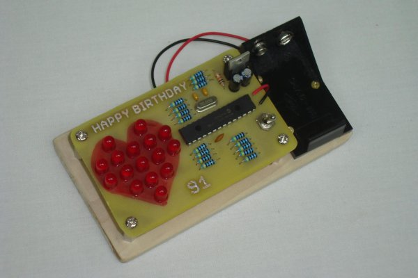 LED Heart PWM Fading using PIC18F252