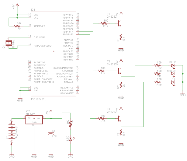 RGB LED Controller schematic