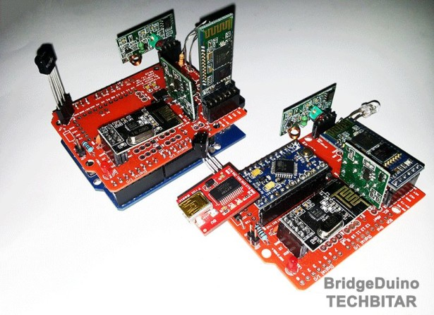 BridgeDuino A wireless Arduino HUB and shield