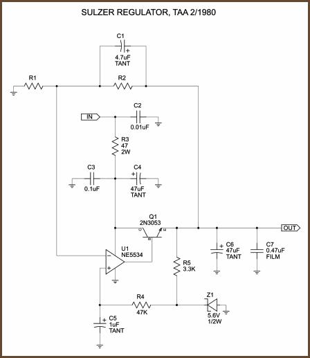 Op-Amp Based Linear Regulators schematic
