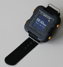 a fully open electronic watch