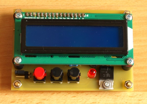 Simple timer with PIC16F628A