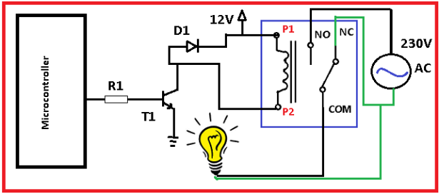 Interfacing Relay with PIC Microcontroller circuit