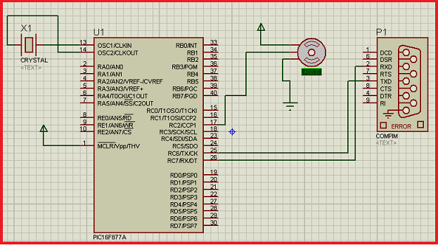 Servo motor control by Microcontroller PIC16f877 and MATLAB GUI