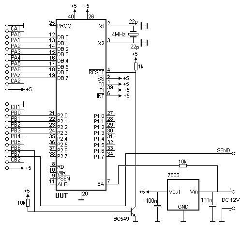 8049 spy using pic microcontroller