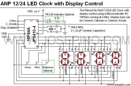 Almost No Parts' 12 24hrs LED Clock
