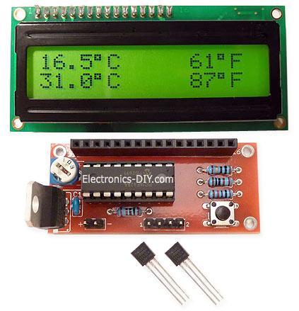 DS18S20 Dual Temperature Meter