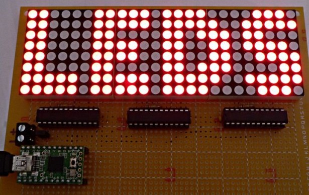 One-chip 11x10 LED matrix.