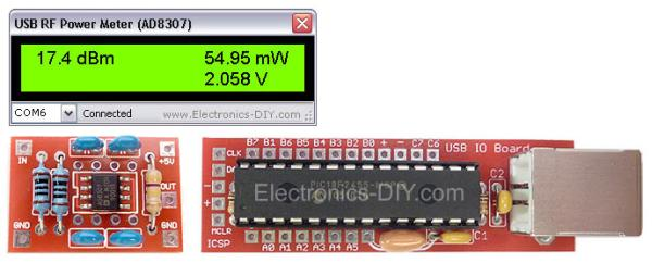 USB 0-500MHz RF Power Meter with AD8307