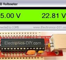 USB Voltmeter using pic microcontoller