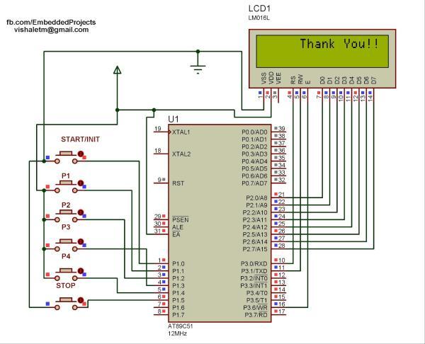 Digital Alarm Clock Schematic using pic microcontoller on