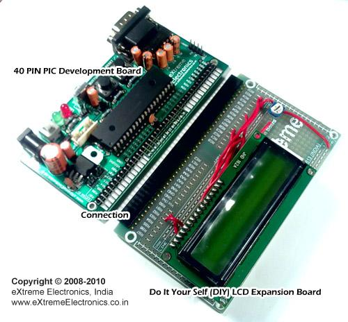 "Making ""The LCD Expansion Board"" for PIC18F4520"
