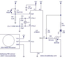 Interfacing PIR sensor to 8051