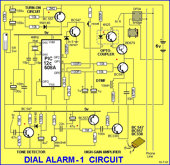 DIAL ALARM-1 Schematic