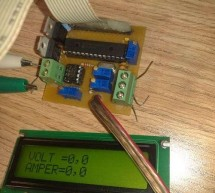 Digital Ammeter circuit using pic microcontroller