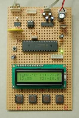 Digital Thermometer and Clock Project (Version 1.0)