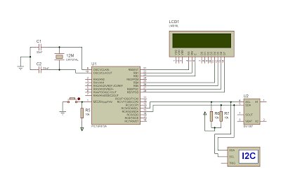 Interfacing DS1307 to PIC Microcontroller with C code and Circuit Diagram