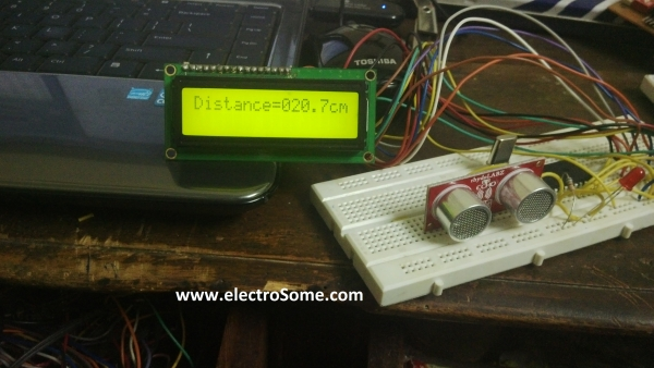 Interfacing Ultrasonic Distance Sensor  ASCII Output with PIC Microcontroller
