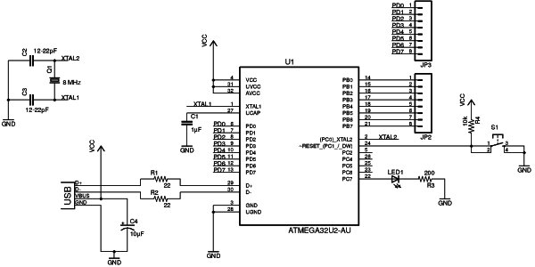 Microcontroller Tutorial 4 5 Creating a Microcontroller Circuit Board Schematic