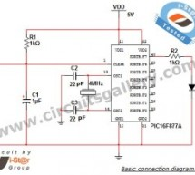 PIC microcontroller Beginner's guide: Basic connection circuit