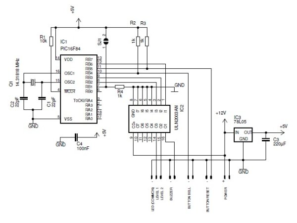 Smart doorbell System Schematic