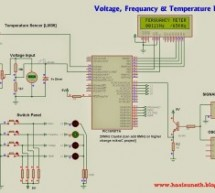 Voltage, Temperature & Frequency Meter With PIC Micro controller