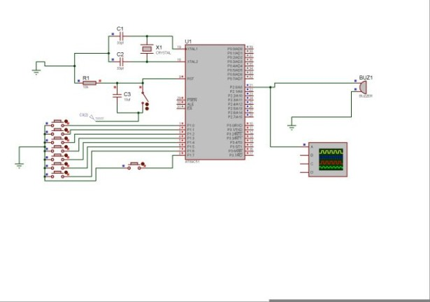 8051 MICROCONTROLLER schematic