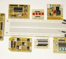 DIY plug-in modules to make microcontroller breadboarding easier