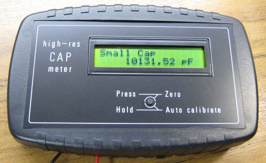 High res cap meter with PIC 16F628