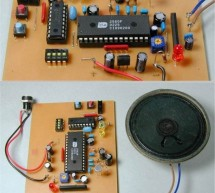 ISD2560 Voice Recording Playback Project PIC16F84 Controlled