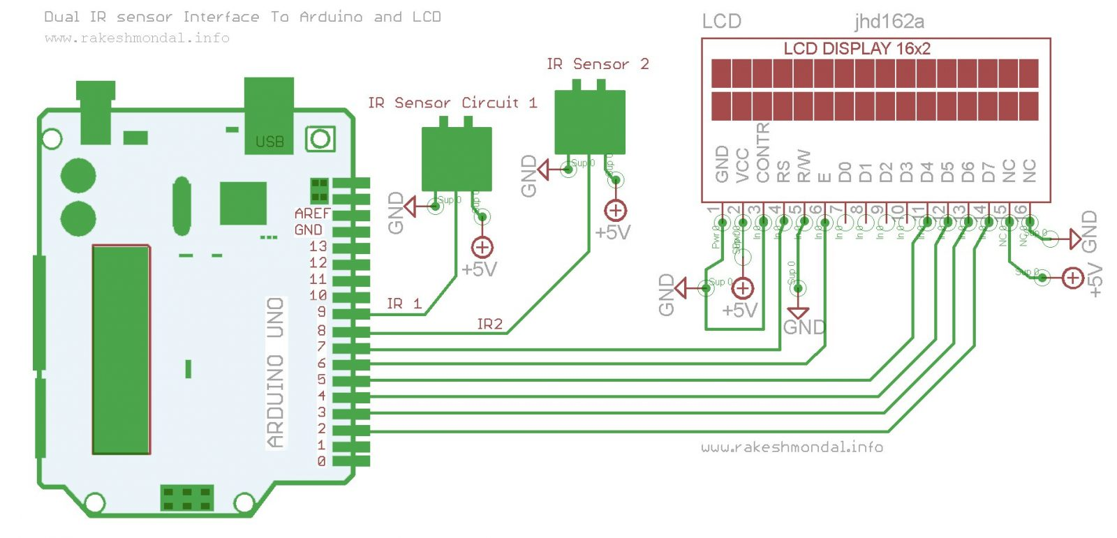 Interface Single And Dual Ir Infrared Sensor With Pic18f4550 Lcd How To Build Detector Circuit Diagram Arduino Schematich