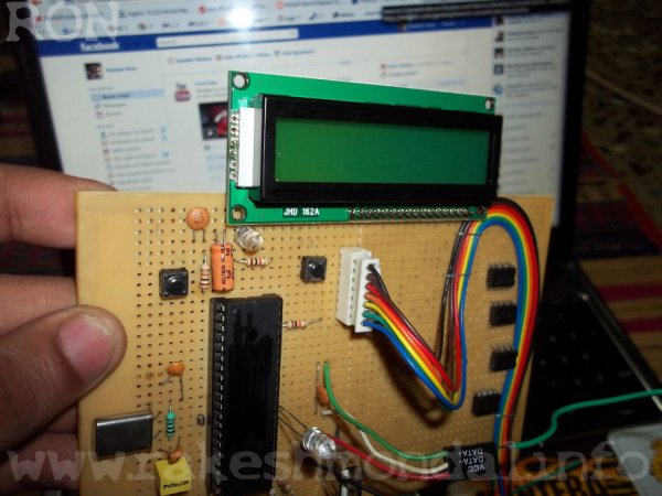 PIC18F4550  LCD display jhd162a  216 Interface schematic