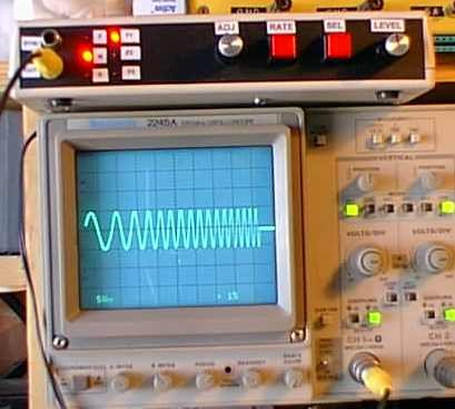 Sine Triangle Square Saw Burst Sweep Noise - runs on a PIC16F870