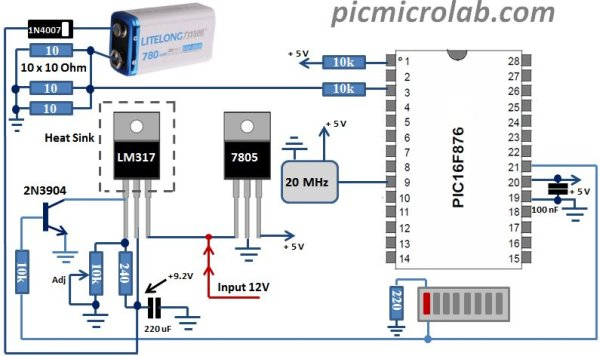 9 Volt Battery Charger schematic