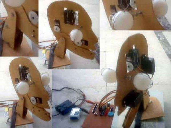 Animatronic Robot Head