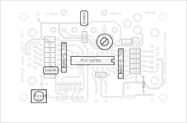 Building the PIC16F84 based game system schematic