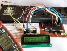 Digital DC watt meter project using pic microcontroller